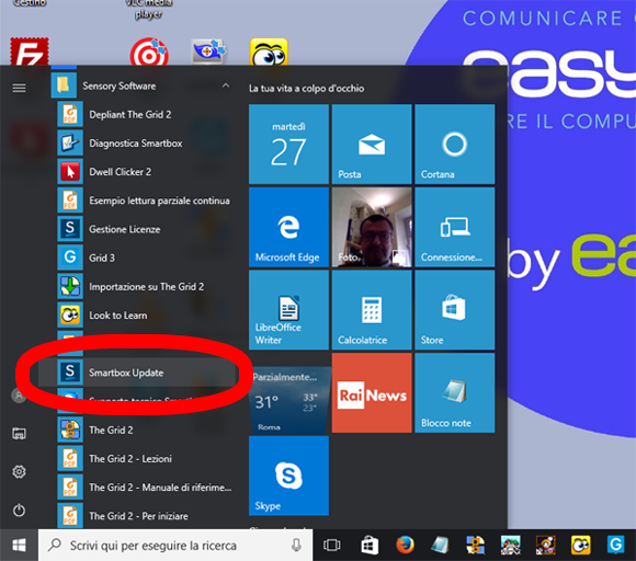 Windows 10, Smartbox update da Menu Windows