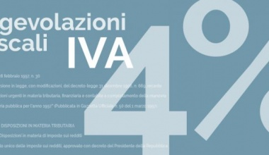 L'Agevolazione IVA al 4%
