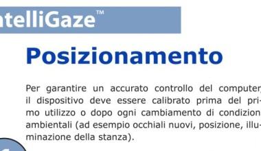 IntelliGaze™ Posizionamento